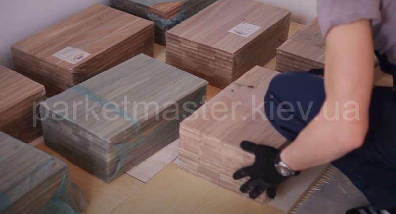 приклеивание фанеры к бетонному полу