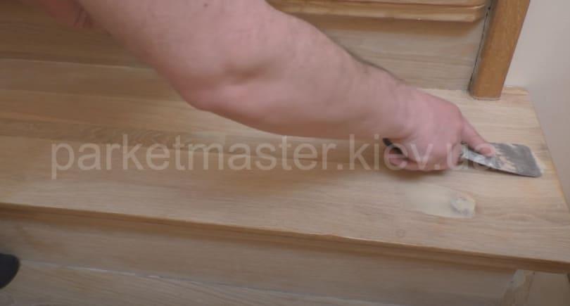 шпаклевка лестницы